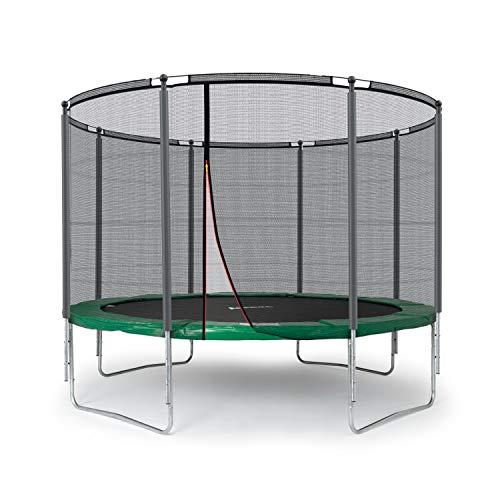 Ampel 24 Outdoor Trampolin 305 cm grün | komplett mit außenliegendem Netz | Gartentrampolin mit 8 Gepolsterten Stangen | Sicherheitsnetz mit Stabilitätsring | Belastbarkeit 150 kg