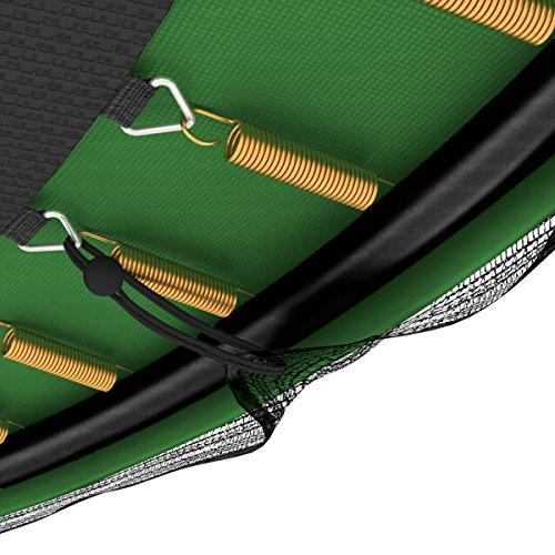 Deluxe Outdoor Trampolin 366 cm mit Netz, Leiter & Windsicherung | Gartentrampolin mit dem Maximum an Sicherheit | Belastbarkeit 160 kg | Gratis Expander - 5