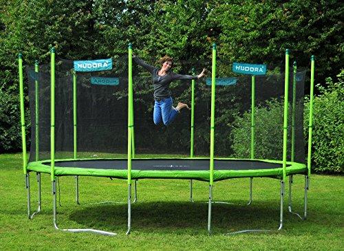 HUDORA Family Trampolin/Gartentrampolin, mit Sicherheitsnetz, grün, 480 cm, 65653 - 6