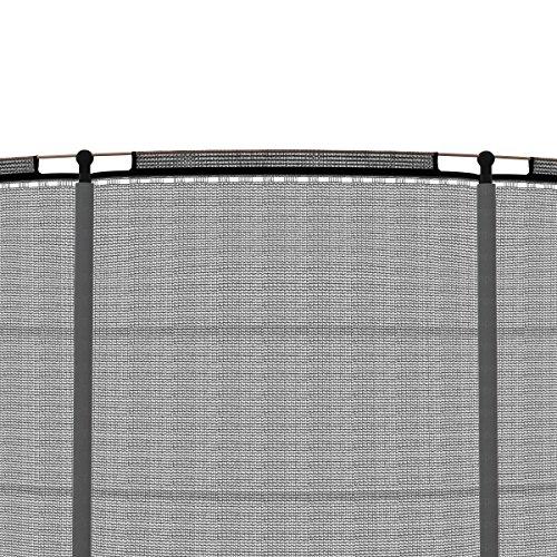 Ampel 24 Deluxe Outdoor Trampolin 490 cm mit Netz, Leiter & Windsicherung | Gartentrampolin mit dem Max an Sicherheit | Belastbarkeit 180 kg | Gratis Expander - 2