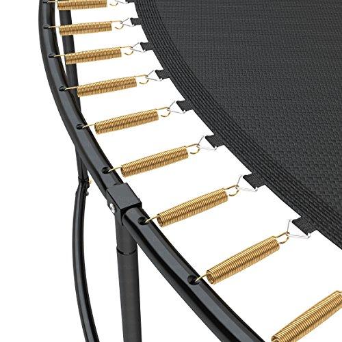 Deluxe Outdoor Trampolin 305 cm mit Netz, Leiter & Windsicherung | Gartentrampolin mit dem Maximum an Sicherheit | Belastbarkeit 150 kg | Gratis Expander - 3