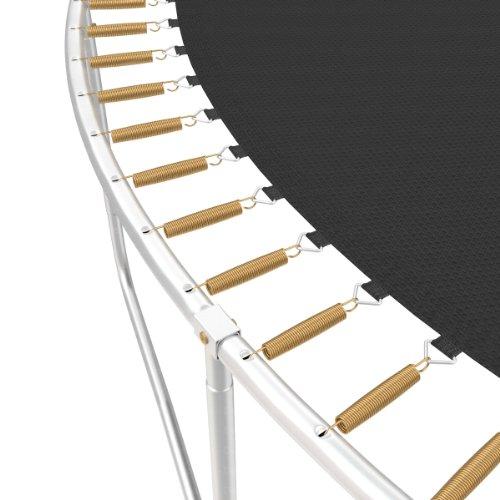 Ampel 24 Outdoor Trampolin Ø 430 cm blau mit verstärktem Netz | Gartentrampolin mit Leiter & Windsicherung | Sicherheitsnetz 6 gepolsterte Stangen | Belastbarkeit 160 kg | Gratis Expander - 2